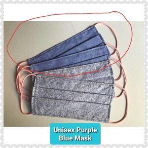 Unisex Handmade Face Mask w/ Filter Pocket - Blue